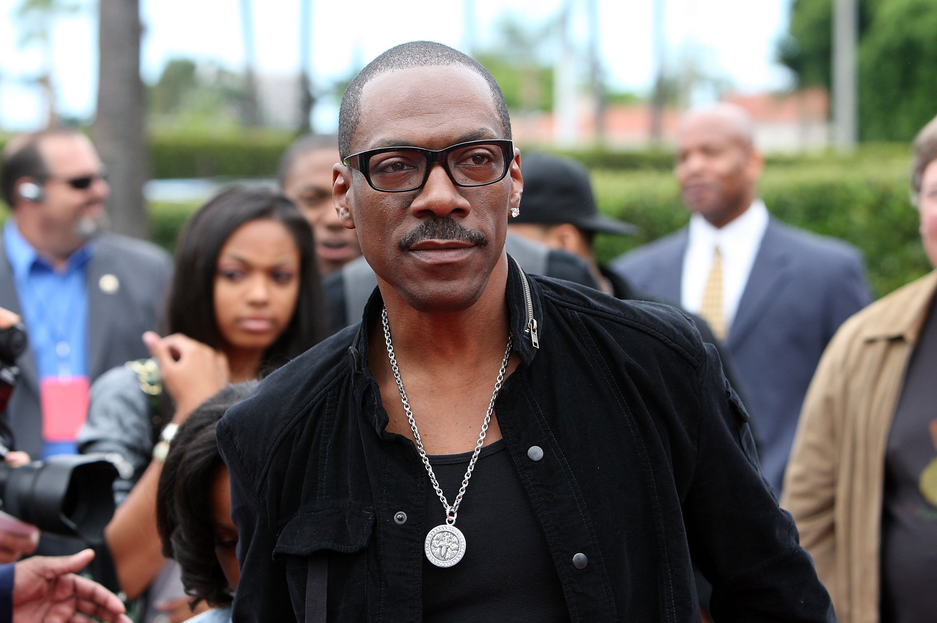 "Eddie Murphy arrives at the Premiere Of Paramount Pictures & Nickelodeon's ""Imagine That"" at Paramount Theater on the Paramount Studios lot on June 6, 2009, in Los Angeles, California. 