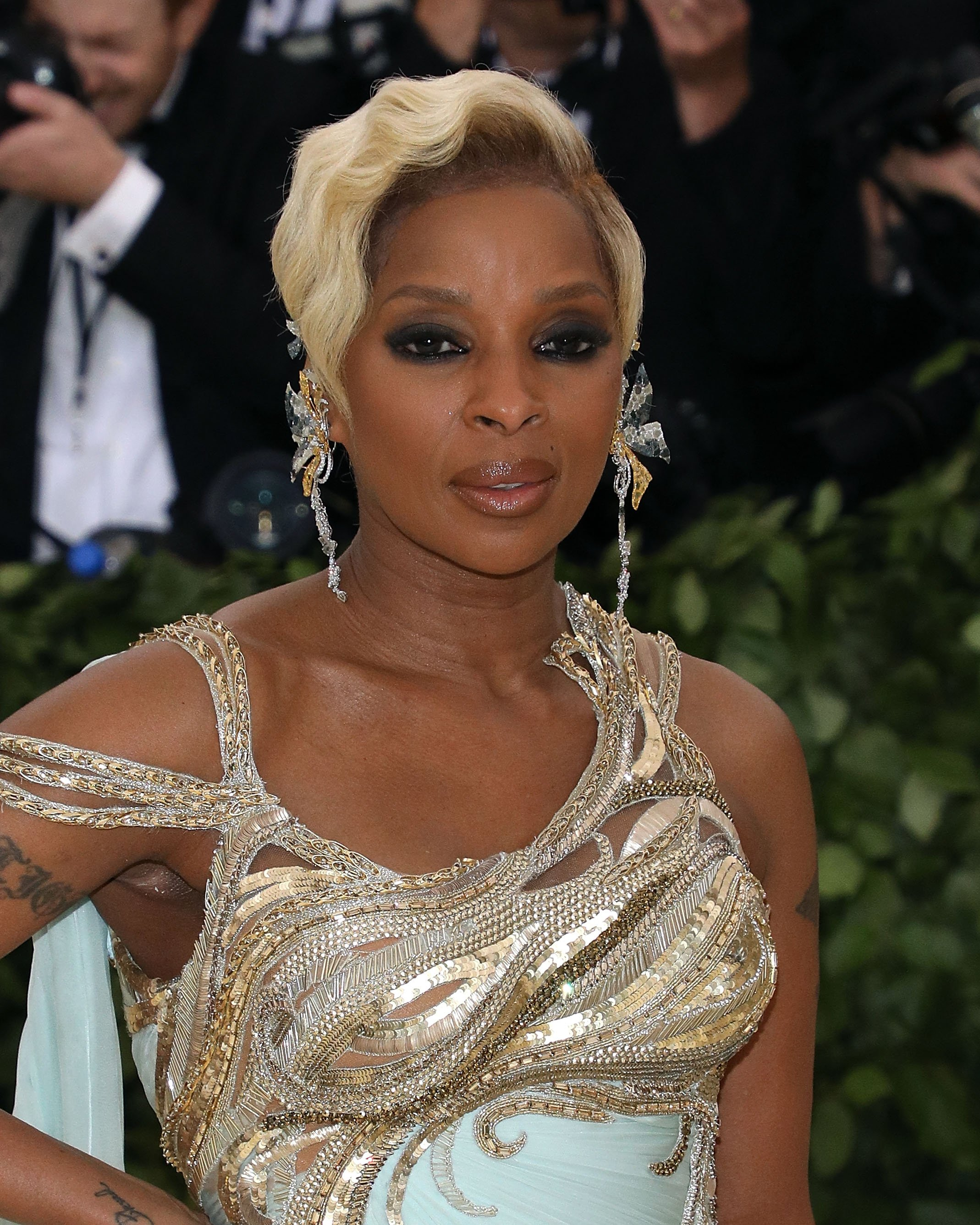 Mary J. Blige at the 2018 Costume Institute Benefit at Metropolitan Museum of Art on May 7, 2018 in New York City. | Source: Getty Images