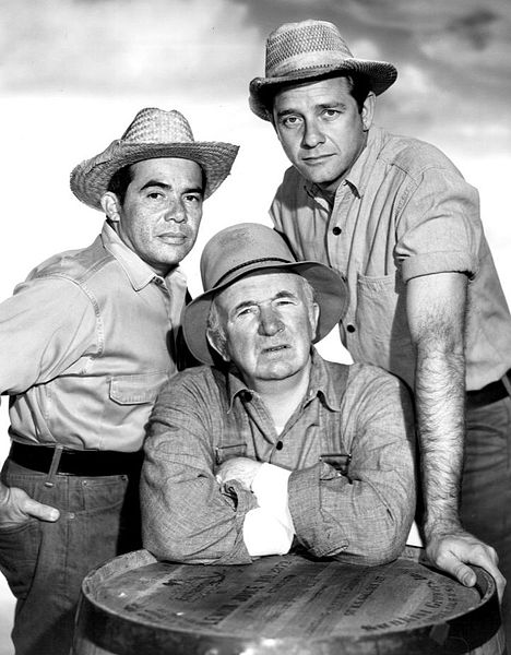 Anthony Martinez, Richard Crenna, and Walter Brennan. | Source: Wikimedia Commons