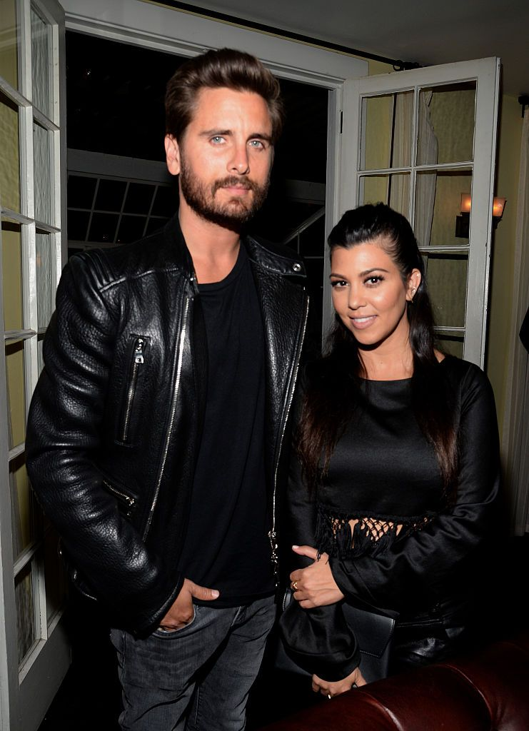 Scott Disick and Kourtney Kardashian at the opening ceremony and Calvin Klein Jeans' celebration launch on April 23, 2015, in Los Angeles, California   Photo: Chris Weeks/Getty Images
