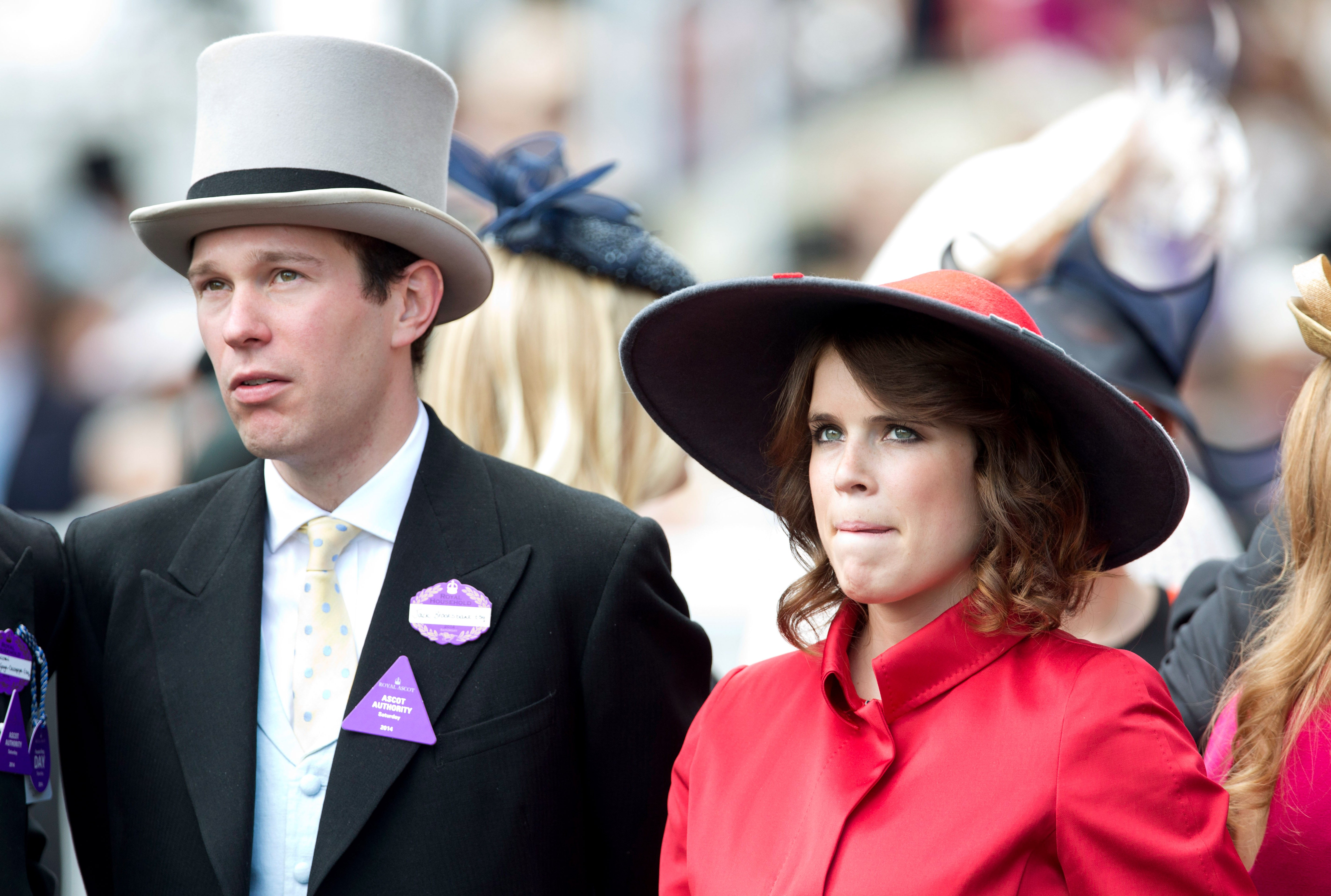 Jack Brooksbank and Princess Eugenie attend Day 5 of Royal Ascot at Ascot Racecourse on June 21, 2014 in Ascot, England.   Source: Getty Images