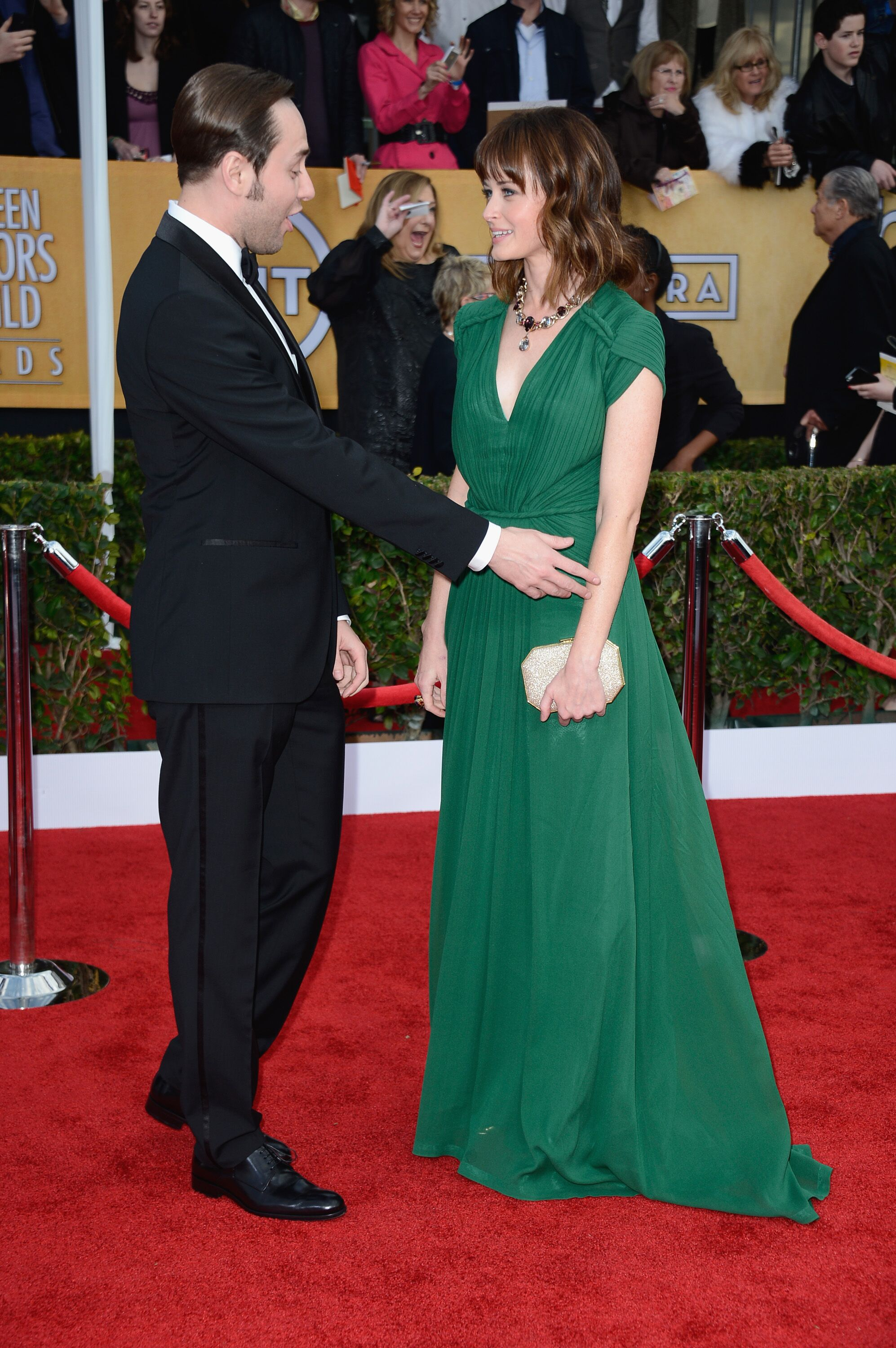 Vincent Kartheiser and Alexis Bledel arrive at the 19th Annual Screen Actors Guild Awards. | Source: Getty Images