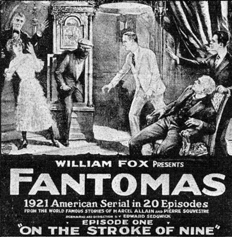 Fantomas, el villano más memorable de París. | Foto: Wikimedia Commons