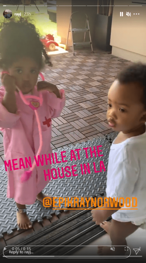 Ray J's daughter dressed in a doctor costume as she plays with her brother | Photo: Instagram.com/rayj
