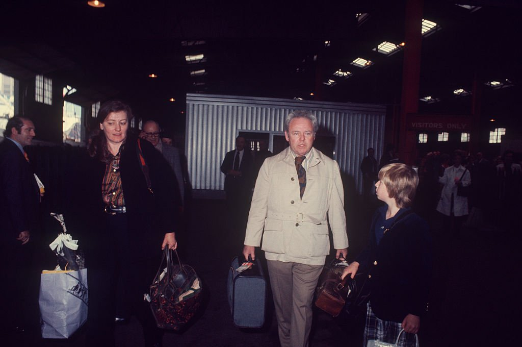 Hugh O'Connor with Carroll O'Connor and his mother Nancy  O'Connor in New York, circa 1970   Source: Getty Images