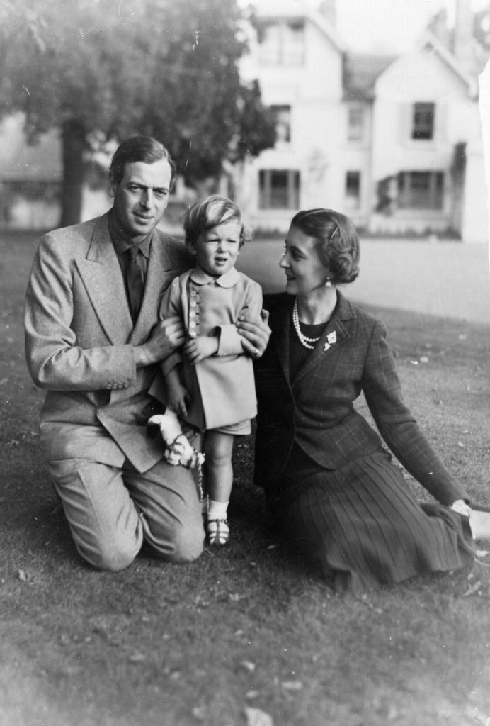 The Duke of Kent, his wife, and son in Iver, Buckinghamshire | Photo: Getty Images