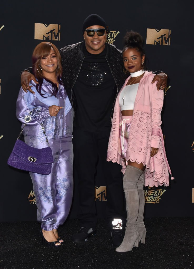 Simone Smith, LL Cool J, and Nina Simone Smith on May 7, 2017 in Los Angeles, California | Source: Getty Images