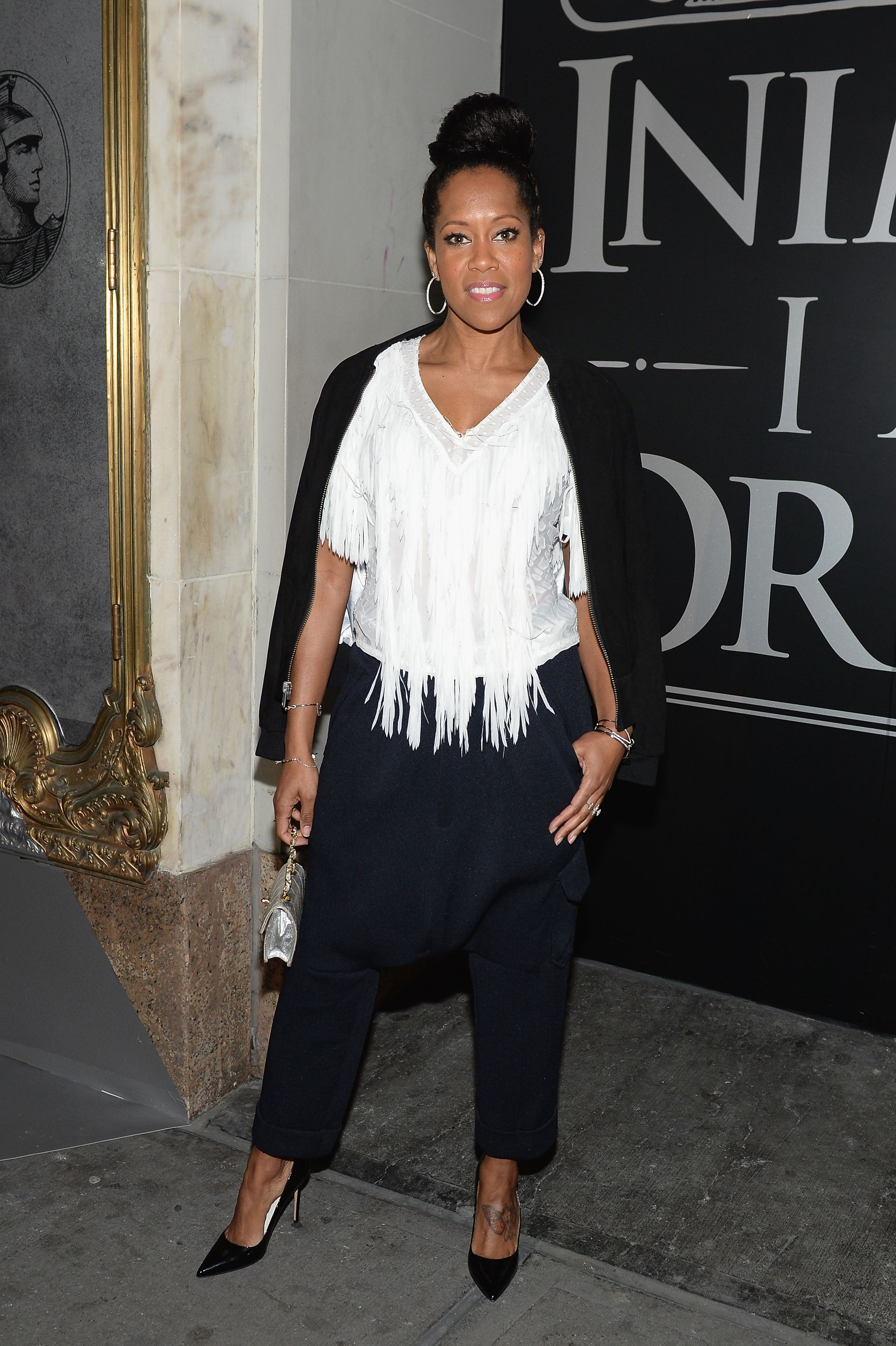 Regina King during the American Express Celebrates The New Platinum Card With Hamilton Takeover Experience on April 1, 2017 in New York City.   Source: Getty Images