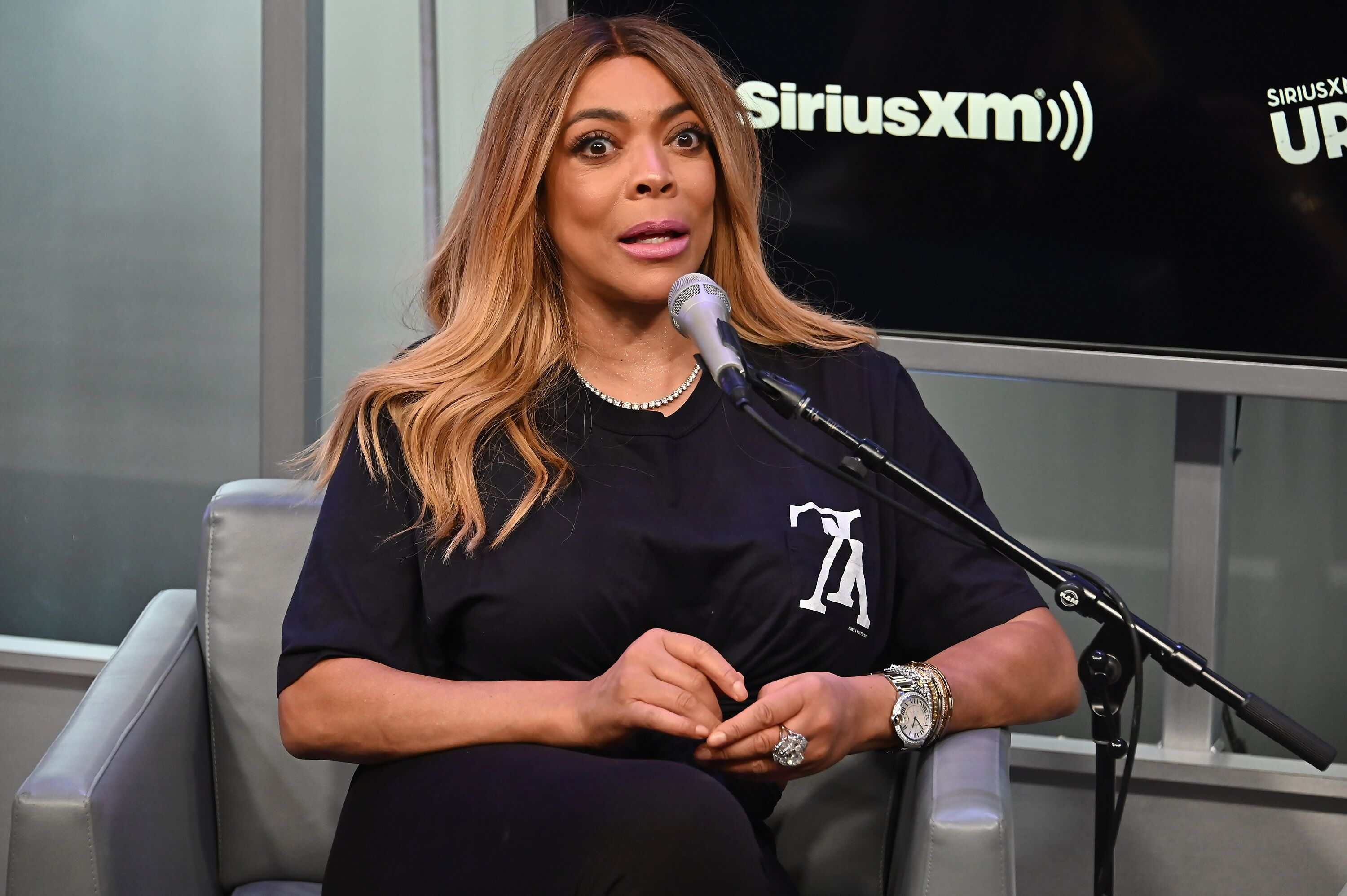 Wendy Williams at a speaking engagement | Source: Getty Images/GlobalImagesUkraine