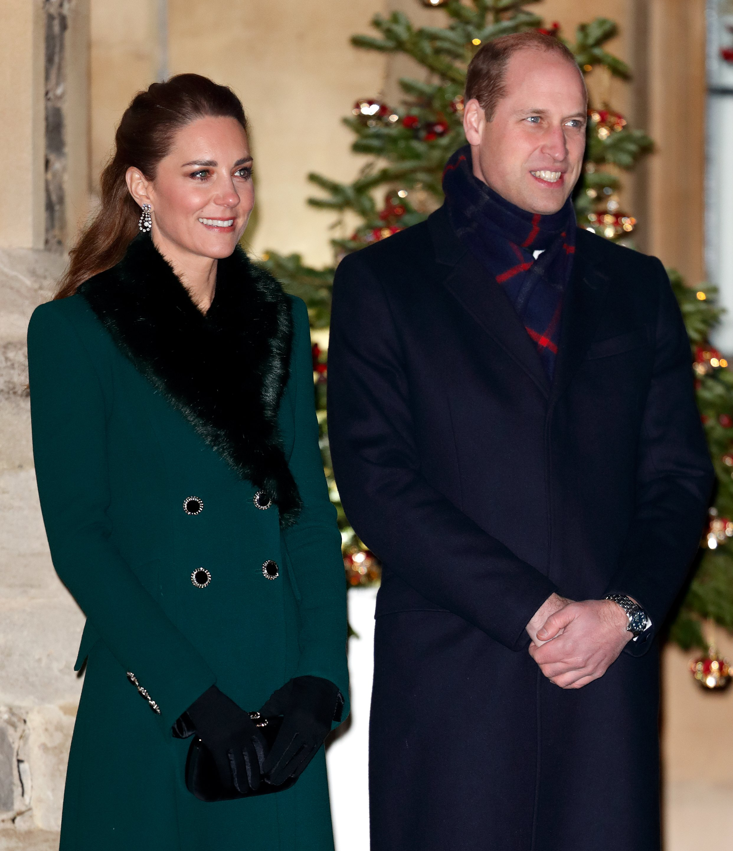 The Duke and Duchess of Cambridge preparing to thank essential workers at an event at Windsor Castle, December, 2020. | Photo: Getty Images.