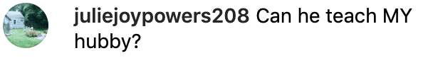 Fan comment on Melissa Gilbert's post. | Source: Instagram/melissaellengilbertbusfield