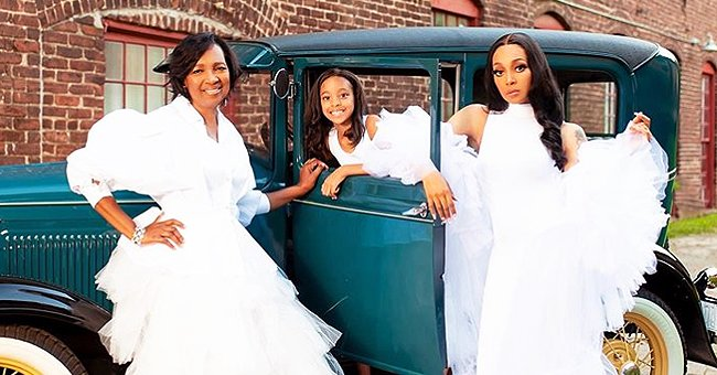 Monica Shares a Gorgeous Picture with Her Mom Marilyn and Daughter Laiyah in Matching White Dresses –– Here's Why