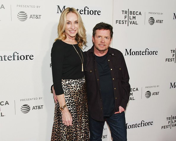 Tracy Pollan and Michael J. Fox attend red carpet for the Tribeca Talks - Storytellers - 2019 Tribeca Film Festival at BMCC Tribeca PAC | Photo: Getty Images