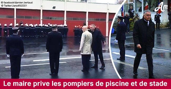 Cholet : Un maire en colère punit les pompiers qui lui tournent le dos (Vidéo)