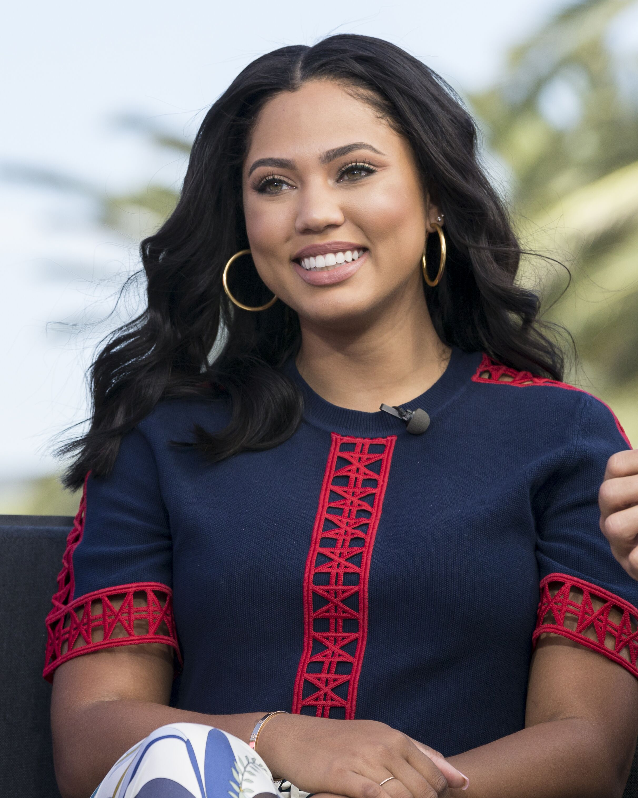 "Ayesha Curry joins Mario Lopez in the mobile gaming market with a new casino slots app titled, ""EXTRA Slot Stars!"" at Universal CityWalk on September 29, 2016 