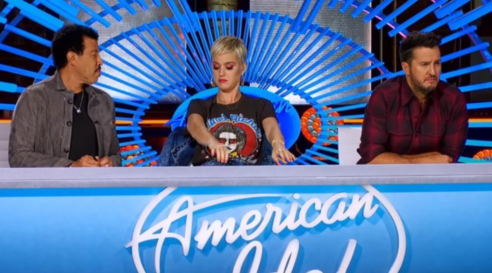 Katy Perry getting goosebumps during Madison's performance | Photo: YouTube/American Idol