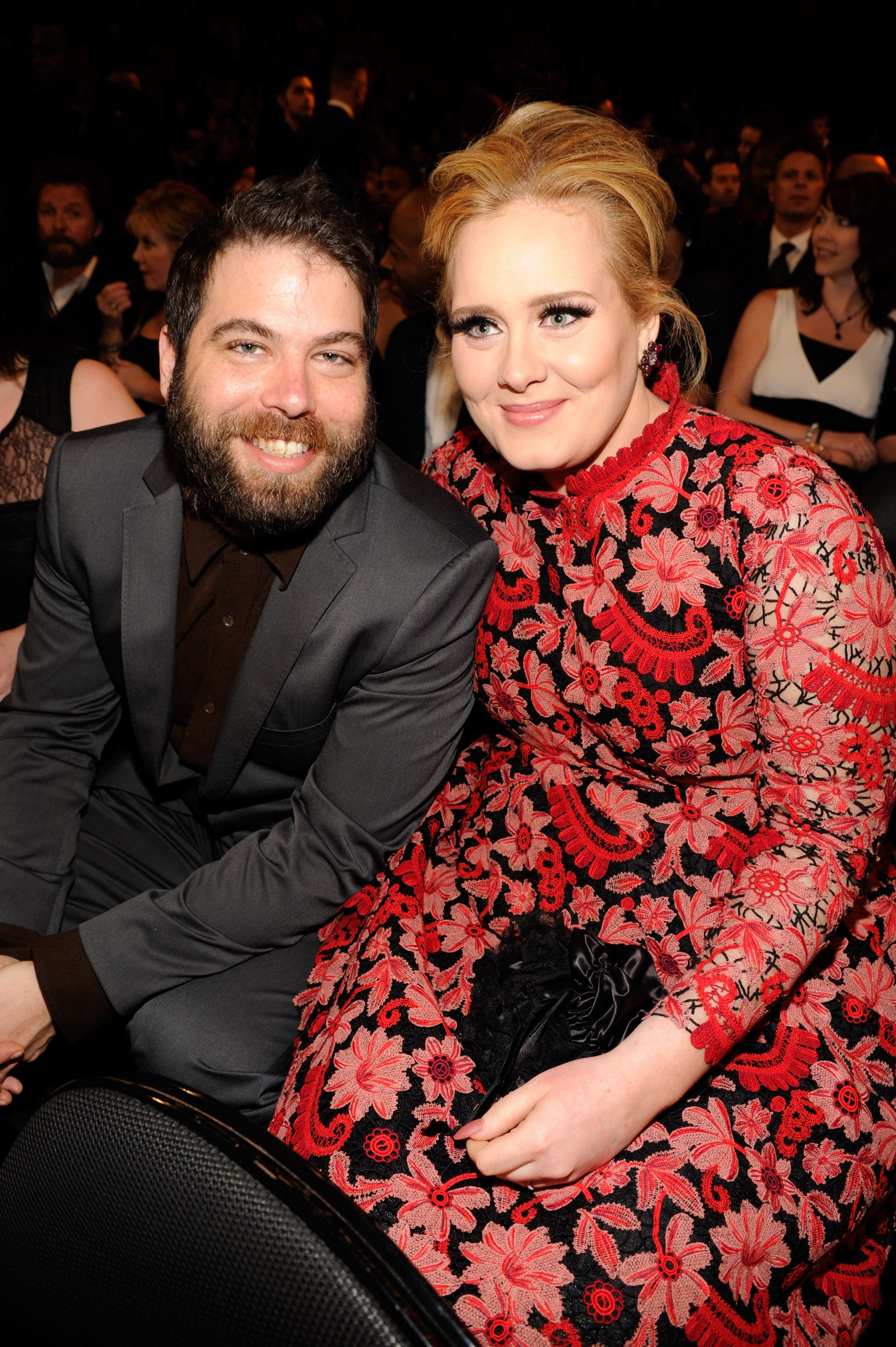 Adele (R) and Simon Konecki attend the 55th Annual GRAMMY Awards at STAPLES Center on February 10, 2013 in Los Angeles, California. | Source: Getty Images