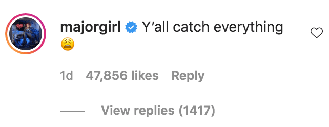 Tiny Harris commented on a post from The Shade Room about her exchange with a fan on one of her posts | Source: Instagram.com/theshaderoom