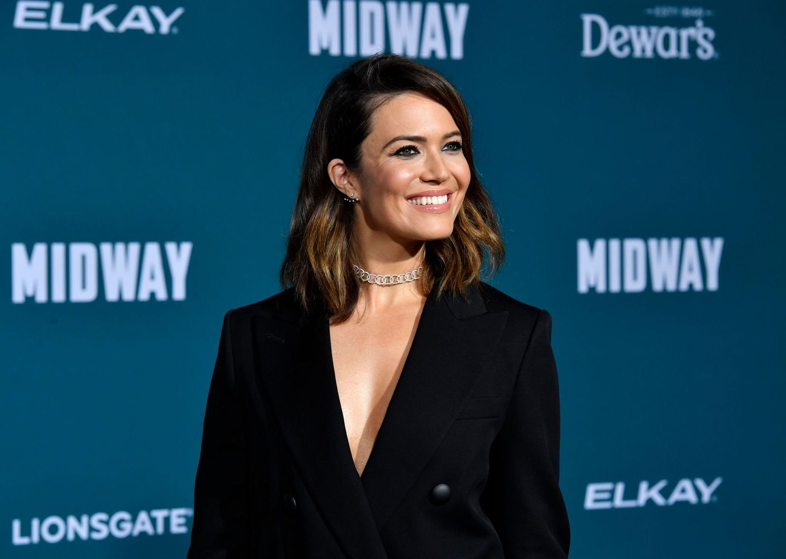 """Mandy Moore at the Premiere Of Lionsgate's """"Midway"""" at Regency Village Theatre on November 05, 2019    Getty Images"""