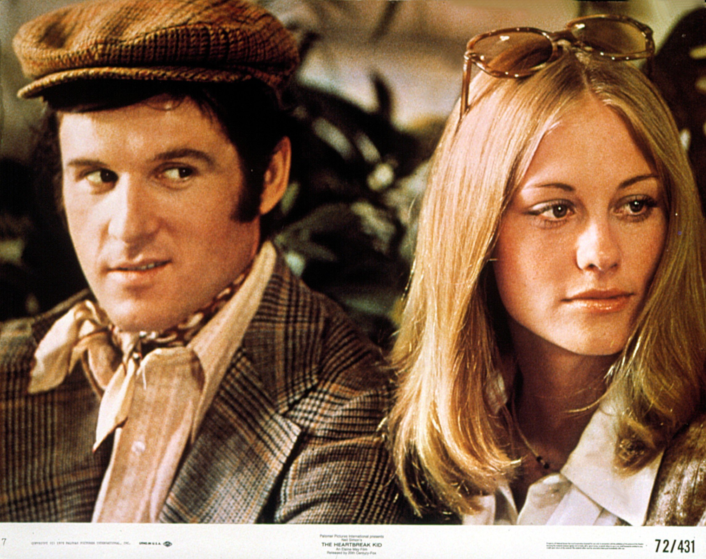 """Charles Grodin as Lenny Cantrow with Cybill Shepherd as Kelly Corcoran in the 1972 film, """"The Heartbreak Kid."""" 
