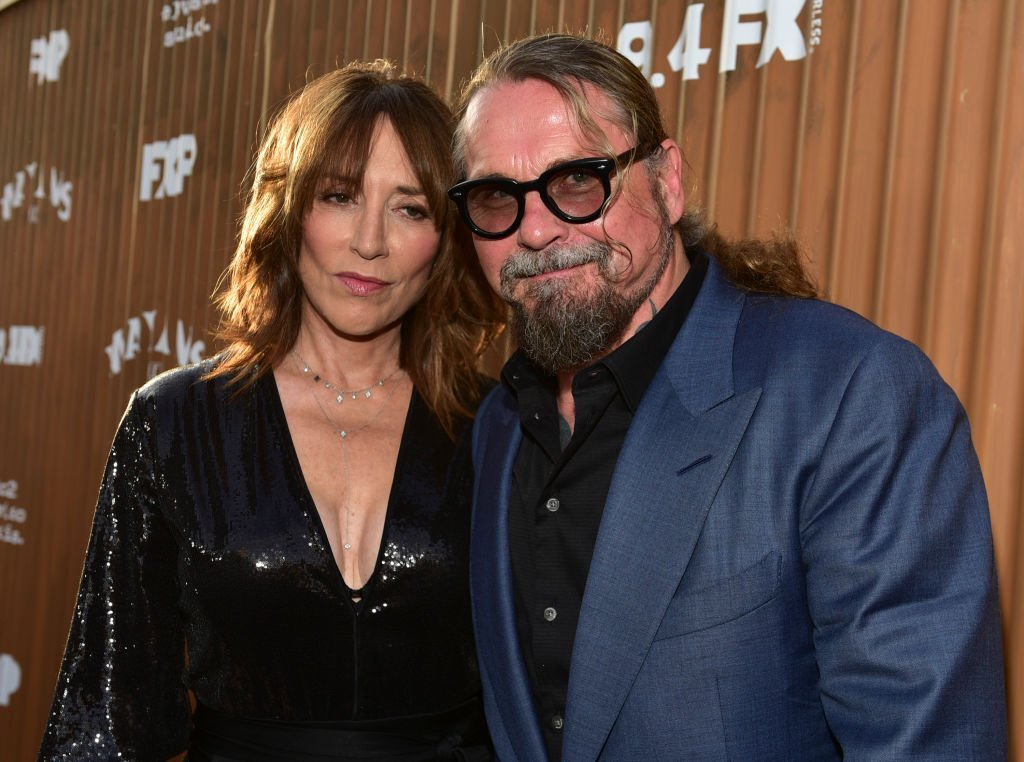 "Katey Sagal and Kurt Sutter attend the premiere of ""Mayans M.C."" in Hollywood, California on August 28, 2018 