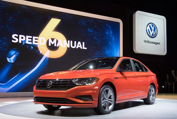 Volkswagen presents the new VW Jetta at the Detroit Auto Show 2018 in Detroit, US, 15 January 2018. | Photo: Getty Images