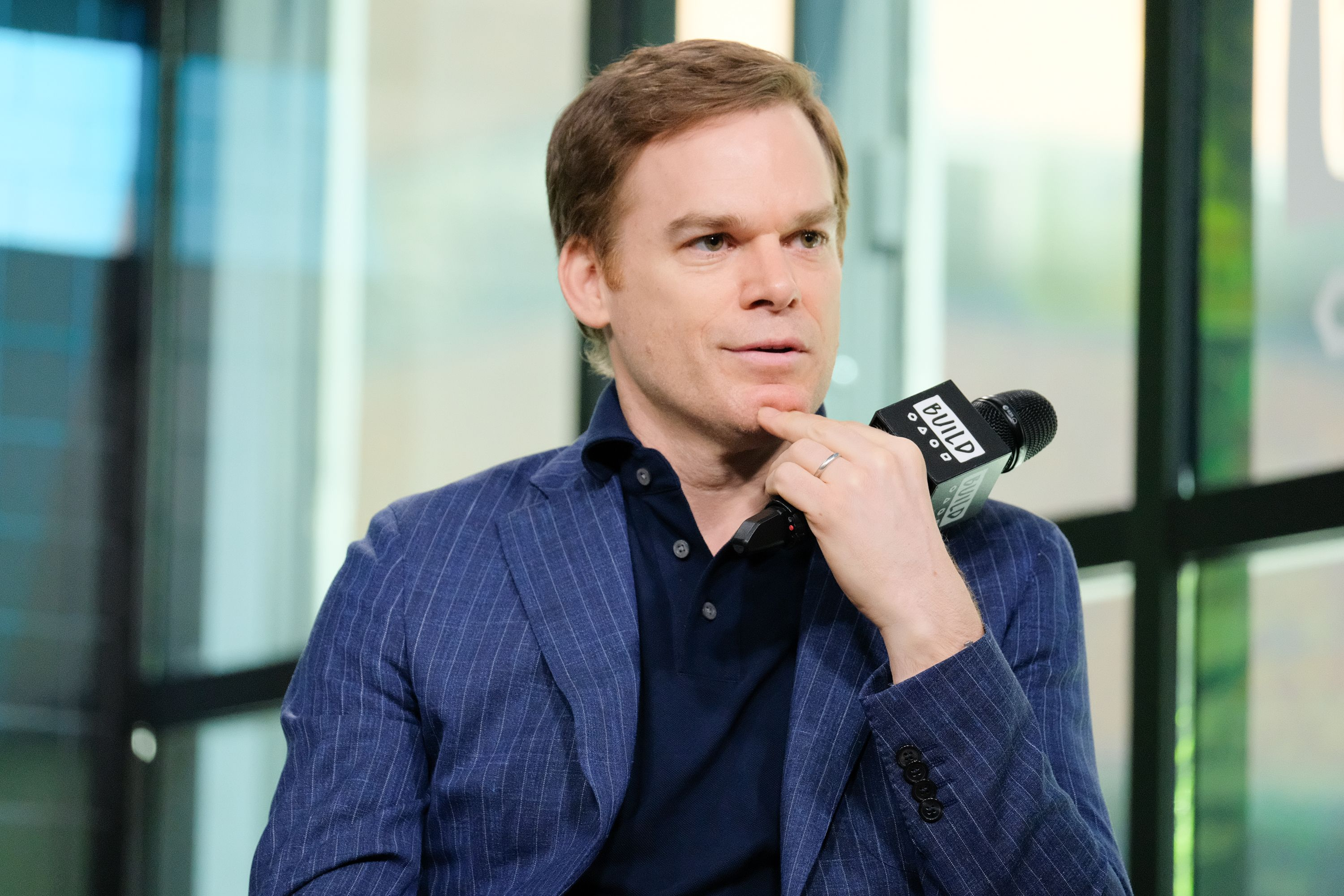 "Michael C. Hall visits ""BUILD"" to discuss his new Netflix series ""Safe"" in 2018 in New York City 