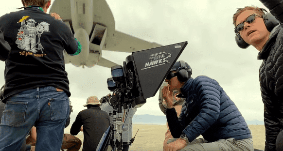 """The camera crew on """"Top Gun: Maverick"""" filming a fighter jet breaking the sound barrier as a part of the upcoming film. 