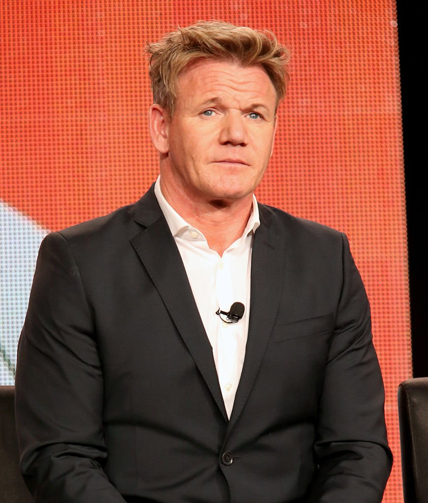 """Celebrity chef Gordon Ramsay speaks onstage for a """"MasterChef Junior"""" panel discussion at the Langham Hotel in January 2015 in Pasadena, California.   Photo: Getty Images"""