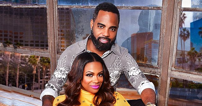Kandi Burruss Stuns as She Poses in a Luxurious Yellow Dress with Her Husband Todd Tucker