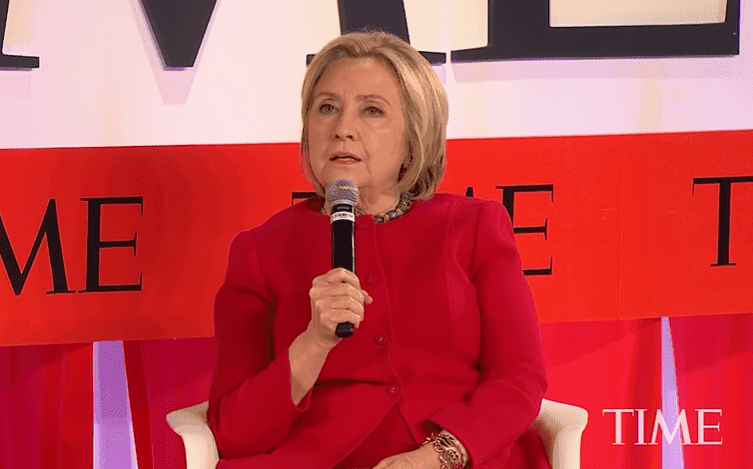 Hillary Clinton speaking at the Time 100 Summit.| Photo: YouTube/ Time.