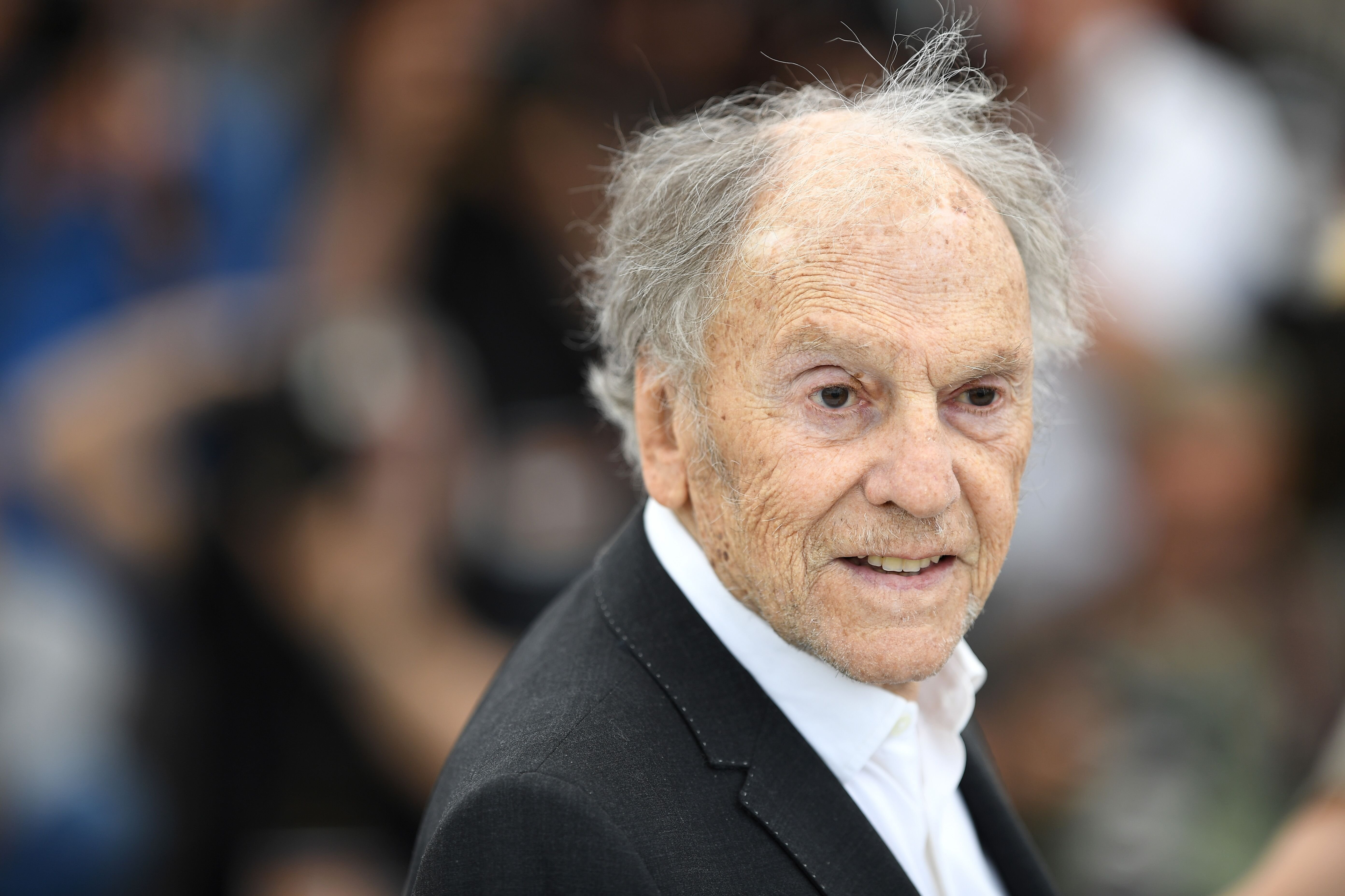 "Jean-Louis Trintignant assiste à la ""Happy End"" Paris Premiere à la cinémathèque le 18 septembre 2017 à Paris, France. 