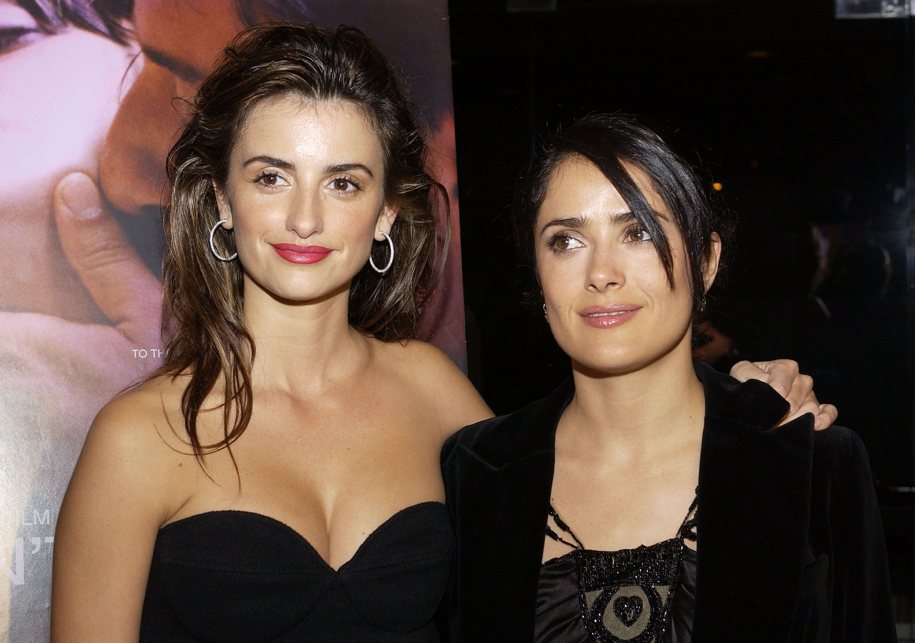 """Penelope Cruz and Salma Hayek at a screening of """"Don't Move"""" on March 13, 2005 