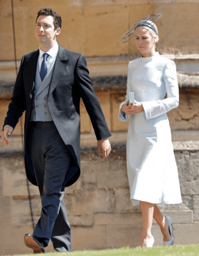 Michael Hess and Misha Nonoo attend the wedding of Prince Harry and Meghan Markle, on May 19, 2018, in Windsor, England | Source: Getty Images