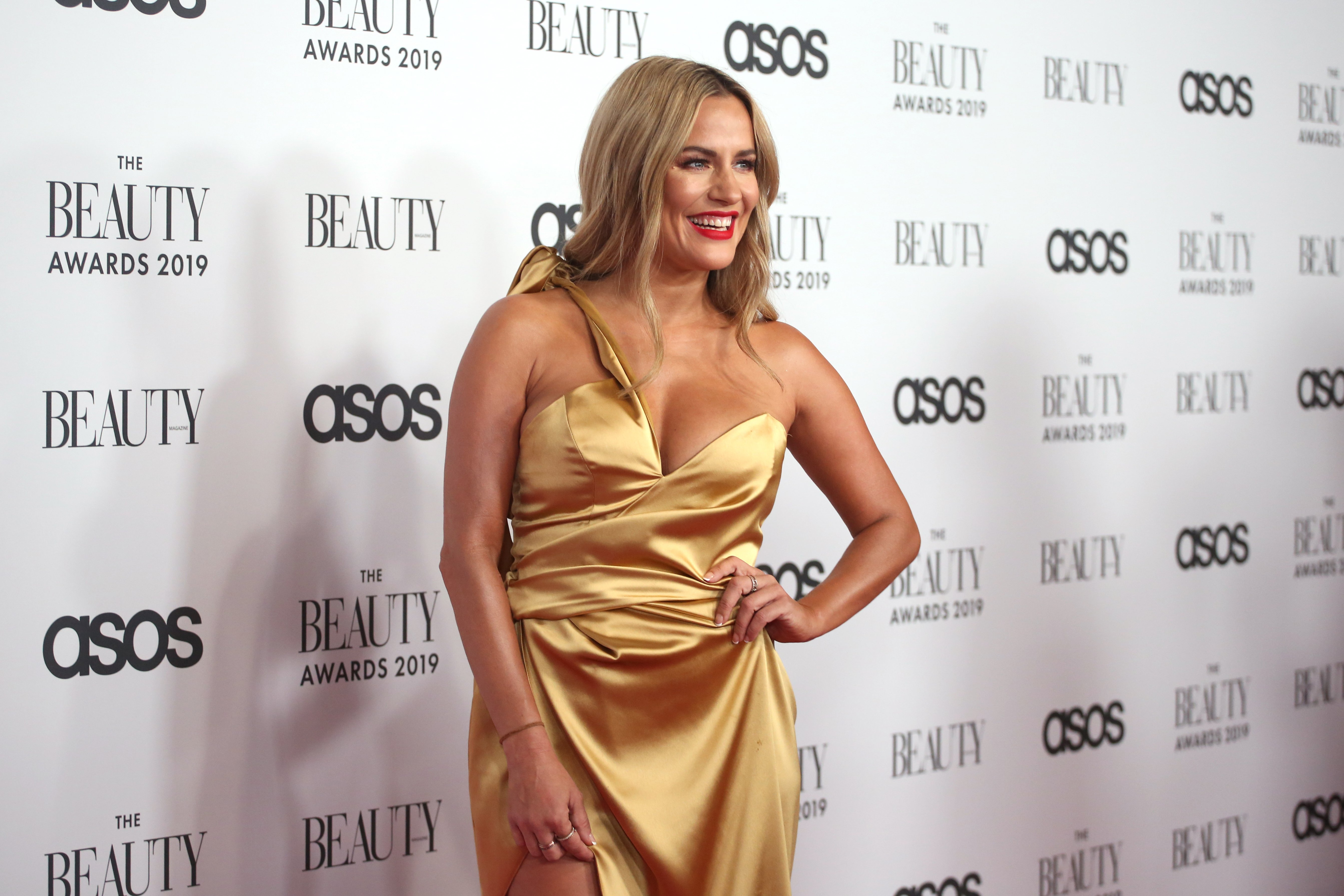 Caroline Flack at The Beauty Awards 2019 on November 25, 2019 in London, England | Photo: Lia Toby/Getty Images
