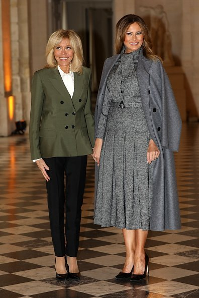 Lady Brigitte Macron and American First Lady Melania Trump 11 at Chateau de Versailles on November 11, 2018 | Photo: Getty Images