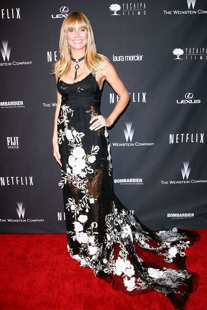 Heidi Klum at the Weinstein Company's Golden Globe Awards after-party on January 12, 2014, in Beverly Hills, California   Photo: Tommaso Boddi/Getty Images