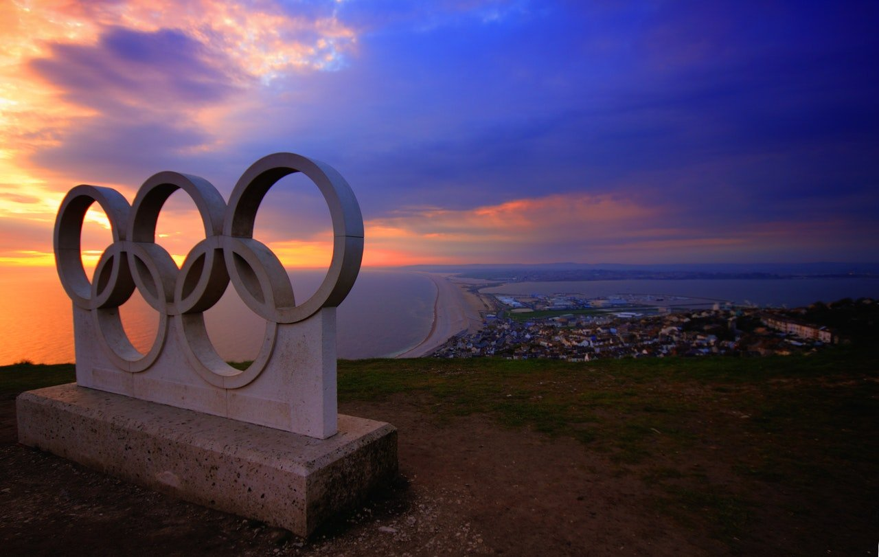 Photo of the Olympic rings   Photo: Pexels