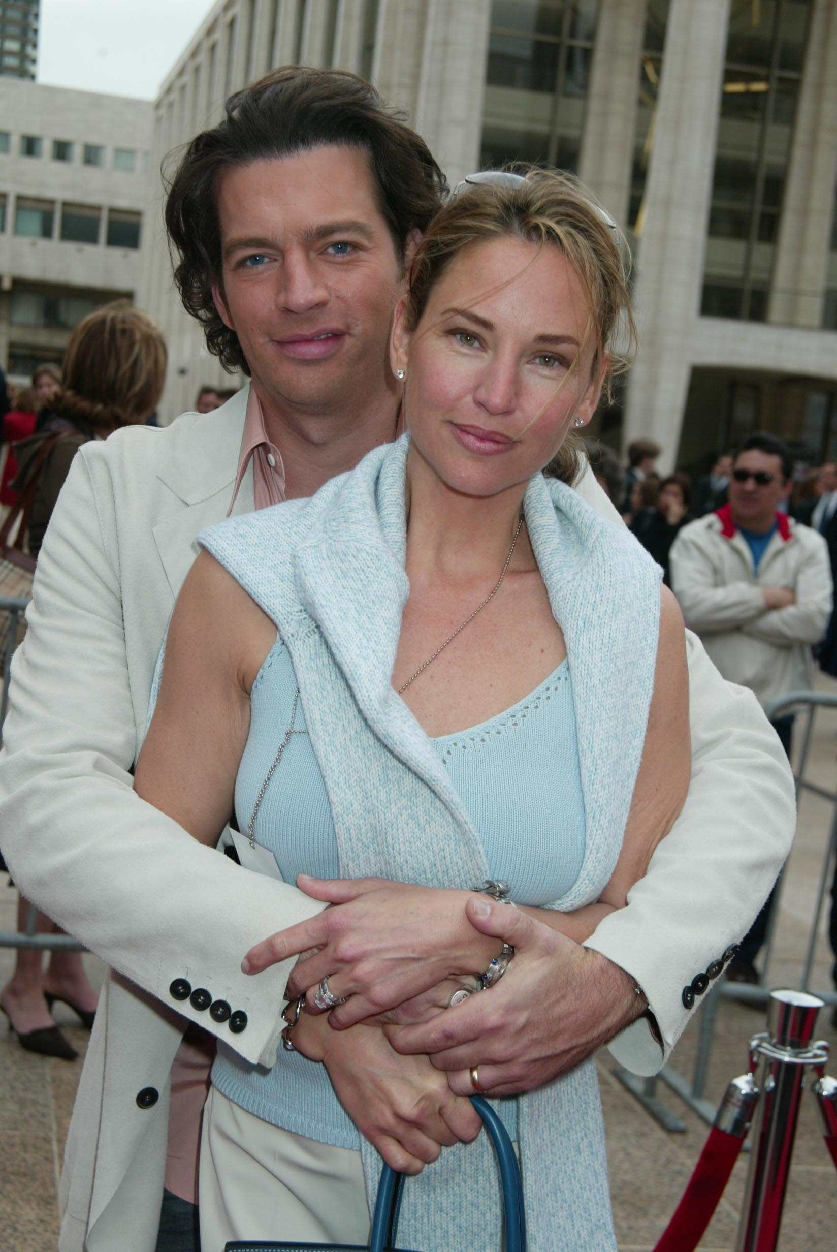 Harry Connick & wife Jill Goodacre during NBC 2003-2004 Upfront - Arrivals at The Metropolitan Opera House. | Photos: Getty Images