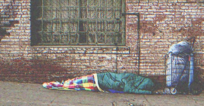 A man sleeping on the streets.   Source: Shutterstock