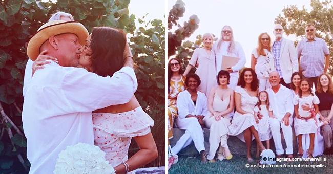 Bruce Willis besa a esposa en íntima foto mientras renuevan sus votos tras 10 años de matrimonio