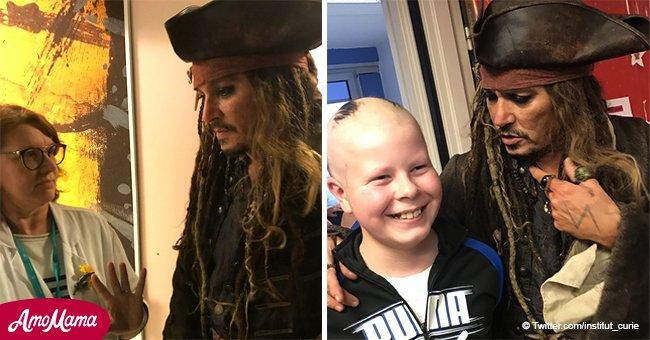 Institut Curie: Johnny Depp déguisé en Jack Sparrow a fait un vrai miracle pour les enfants malades