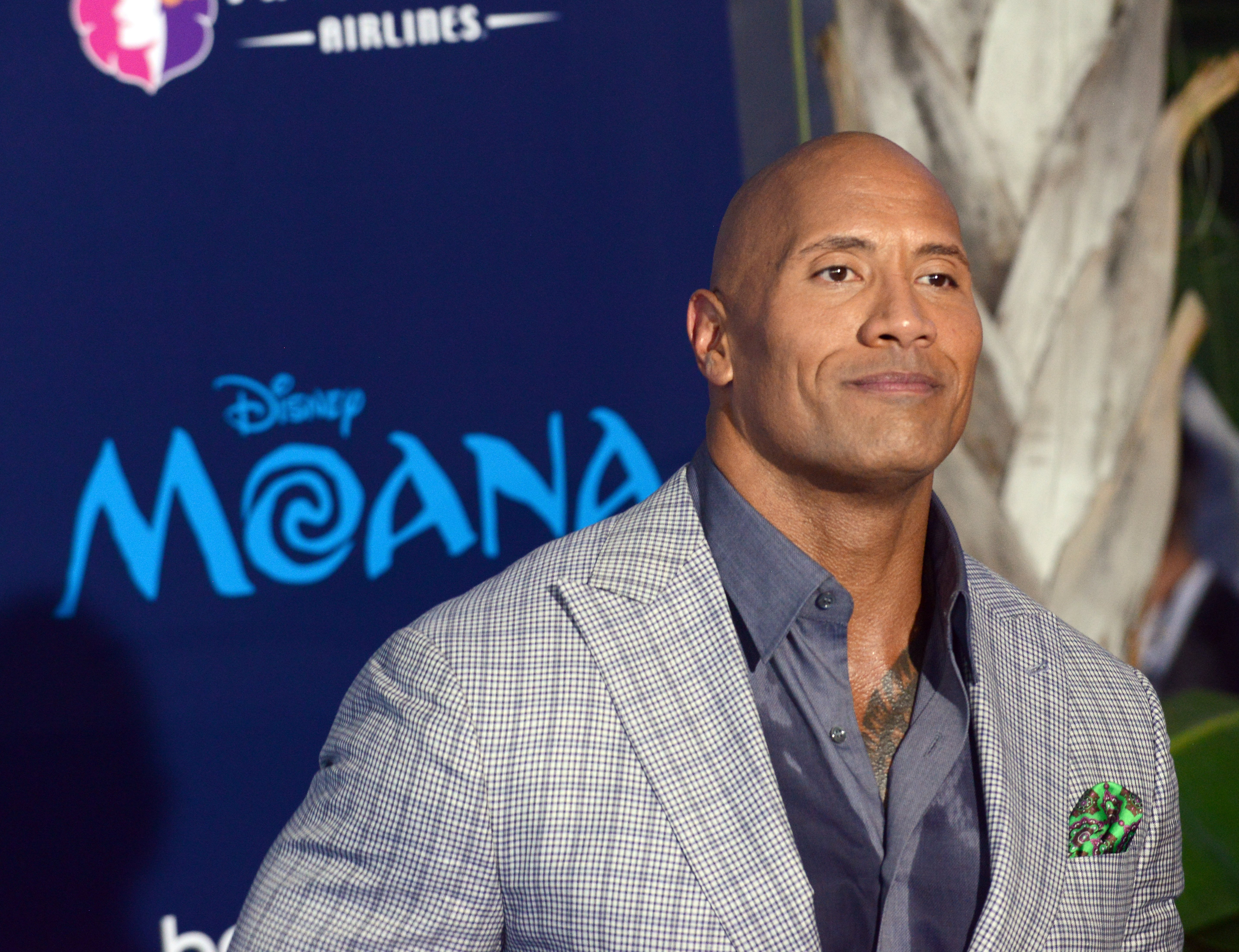 """Dwayne Johnson attends the Disney premiere of """"Moana"""" at AFI FEST 2016 in Hollywood, California, in November 2016. 