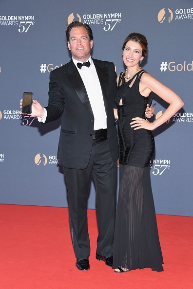 Michael Weatherly and his wife Bojana Jankovic at the 57th Monte Carlo TV Festival on June 20, 2017 | Photo: Getty Images