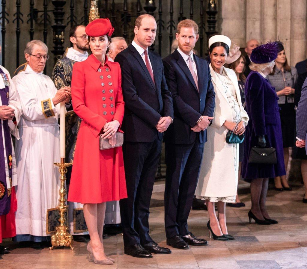 El duque y la duquesa de Cambridge junto a el duque y duquesa de Sussex. | Créditos: Getty Images/Global Images Ukraine