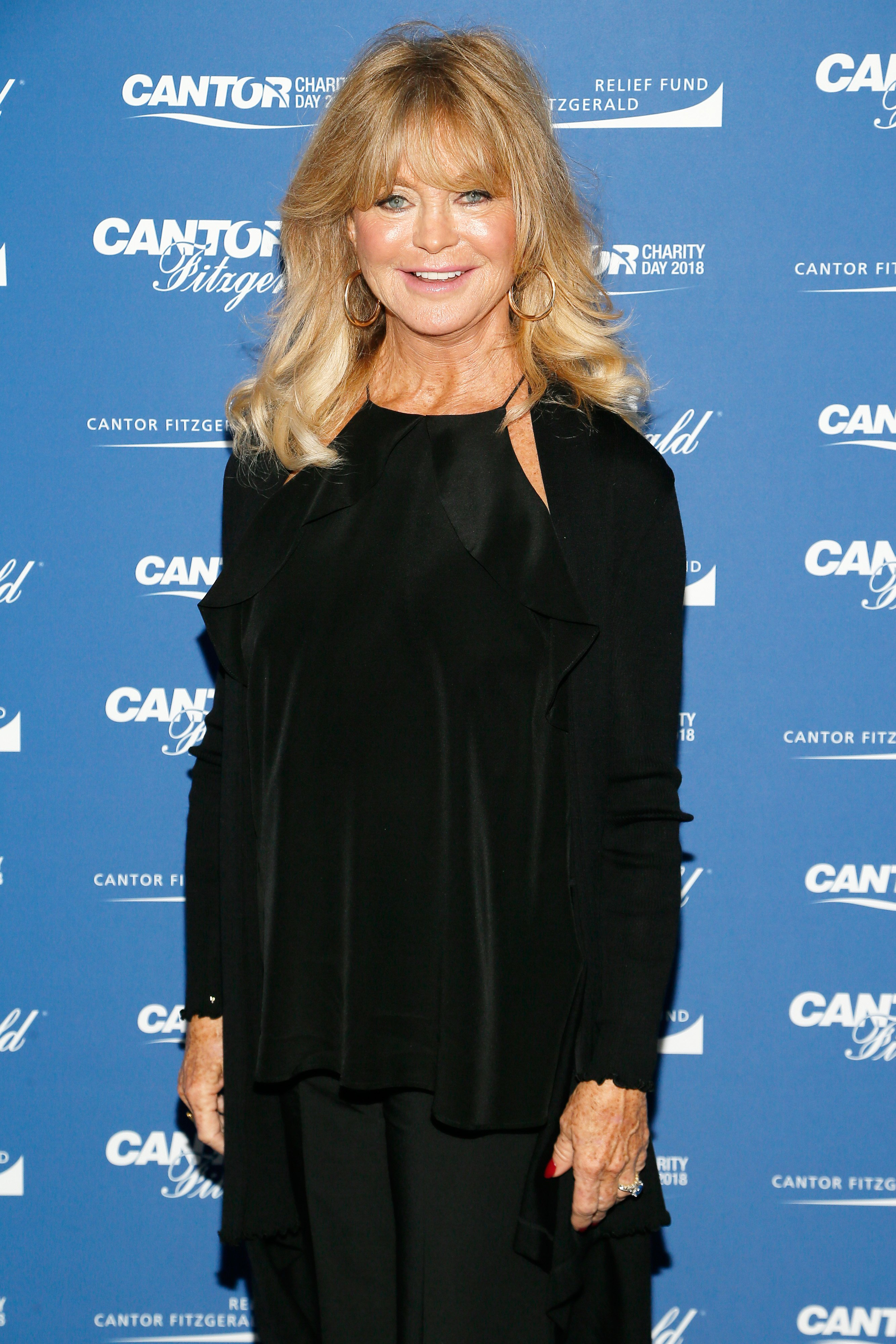 Goldie Hawn attends the Annual Charity Day hosted by Cantor Fitzgerald, BGC and GFI at Cantor Fitzgerald on September 11, 2018 in New York City.  Source: Getty Images