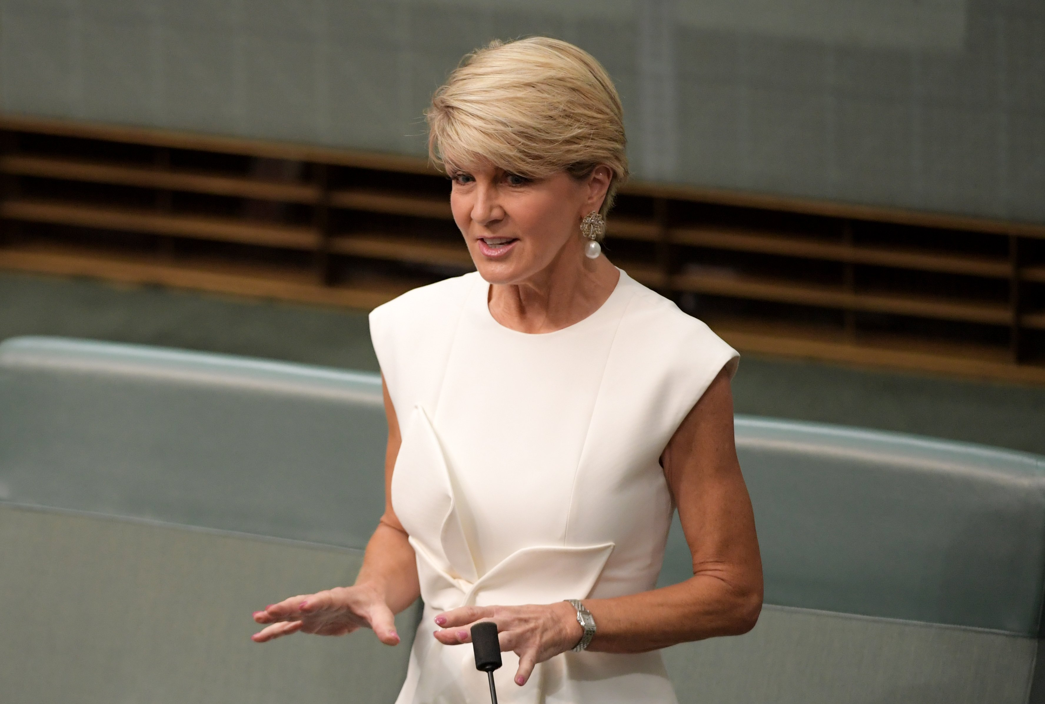 Former foreign minister of Australia Julie Bishop at the Parliament House | Photo: Getty Images