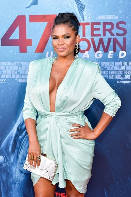 """Nia Long at the premiere of """"47 Meters Down Uncaged"""" on August 13, 2019 in Los Angeles 