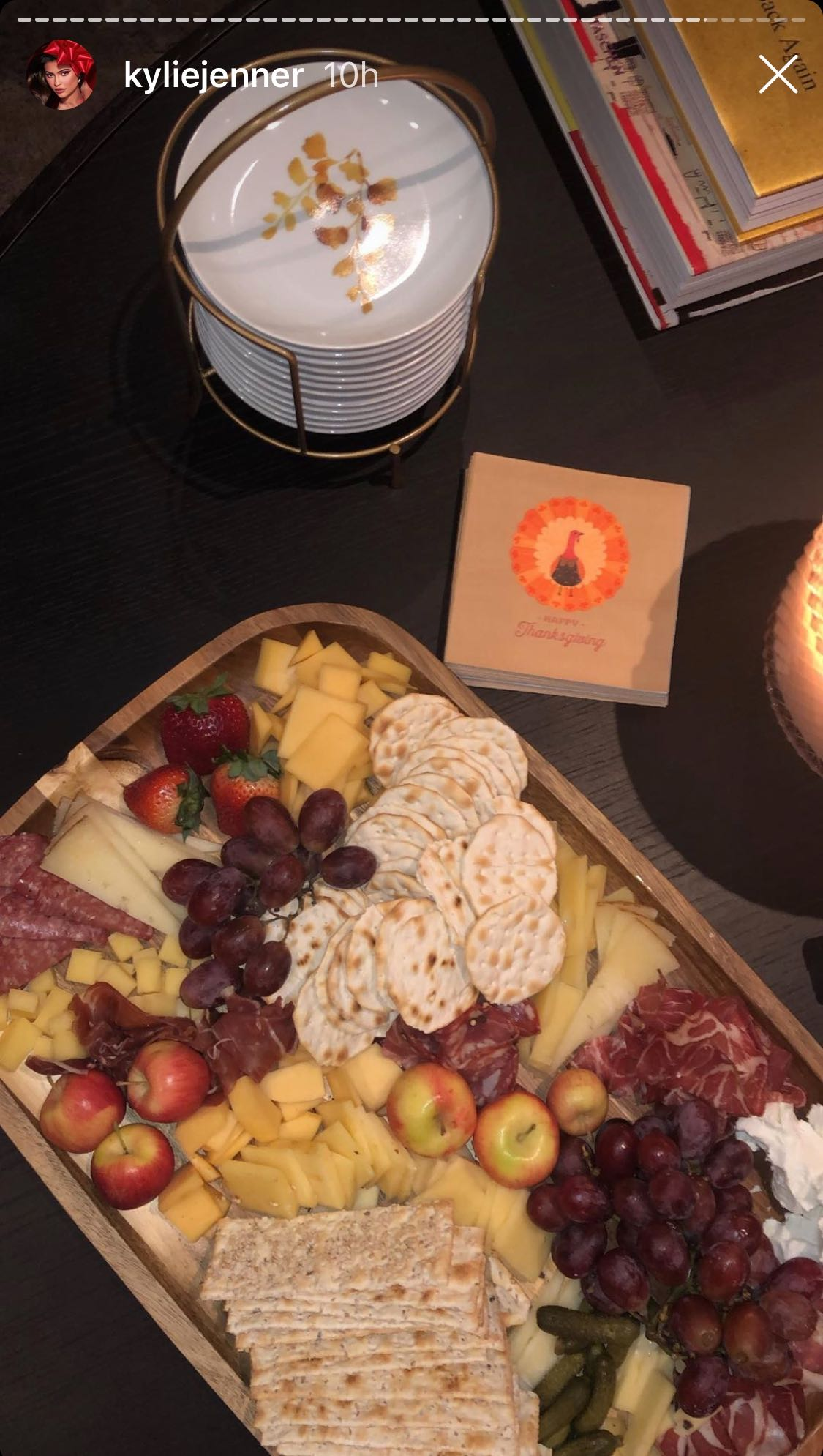 Kylie Jenner's luscious spread for her Friendship guests/ Source: Instagram/ KylieJenner