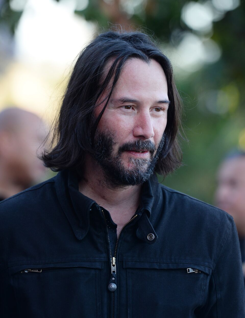 "Keanu Reeves arrives at the LA Special Screening of Amazon's ""Too Old To Die Young."" 